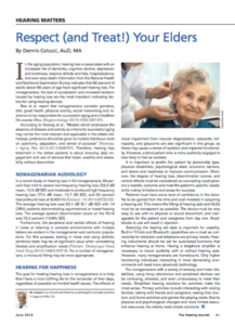 Cental Presbycusis - Respect and Treat Your Elders