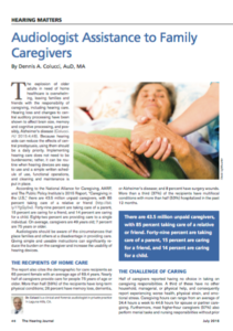 Audiologist Assistance to Caregivers - HJ Cover Image